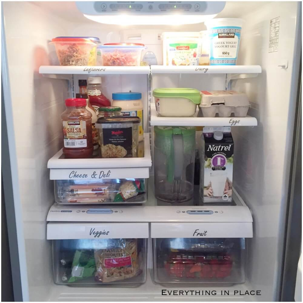 and Cheap Ways to Organize Your Refrigerator -2