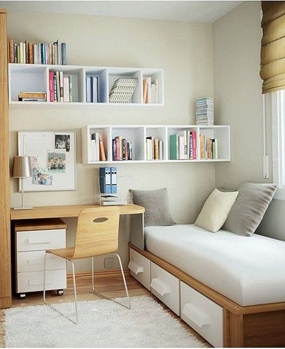 Surprising Small Home Office Ideas -Utilize nooks and crannies