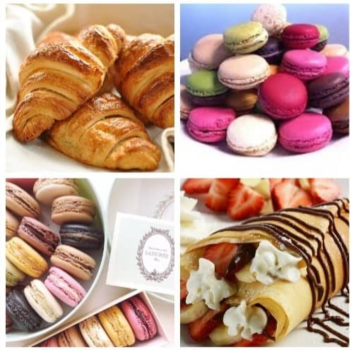 top-10-things-to-do-and-see-in-paris-france-10 croissants, macarons crepes