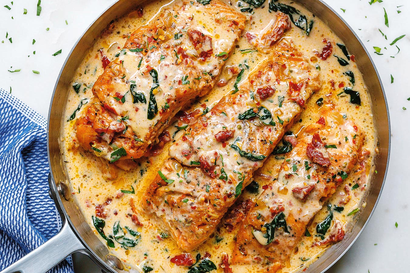 The 5 Most Mouthwatering Fish Recipes- Garlic Tuscan Salmon