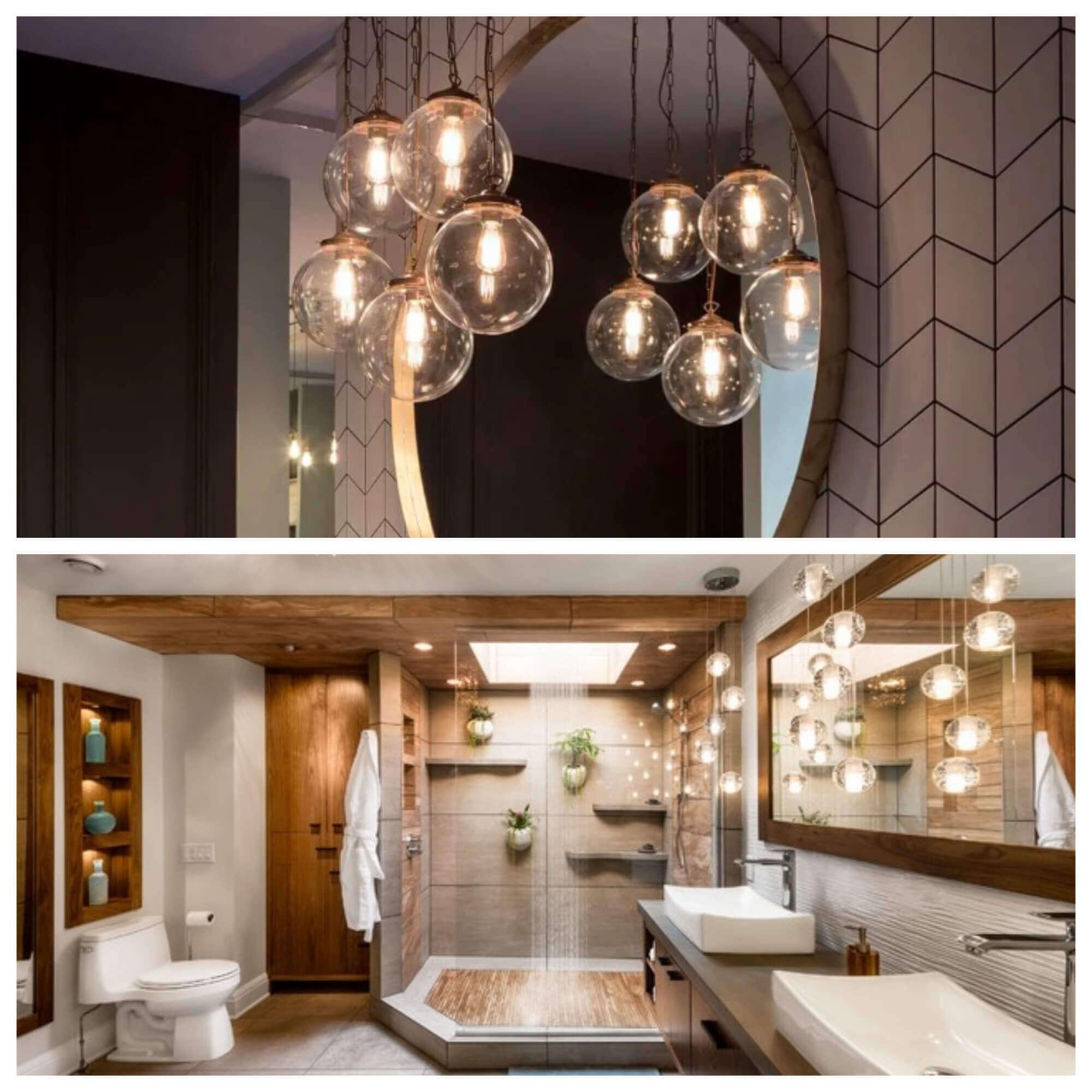 9 Lighting Ideas for Your Bathroom Design- Create a Cluster