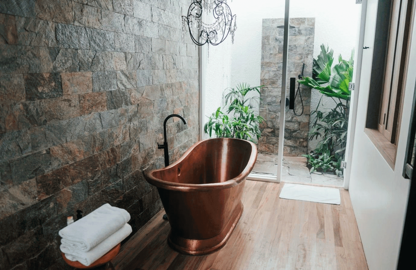 9 Lighting Ideas for Your Bathroom Design- Lots of Natural Light