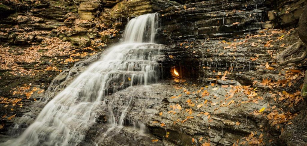 20 Weird Places around the World You Must Visit- Eternal Flame Falls