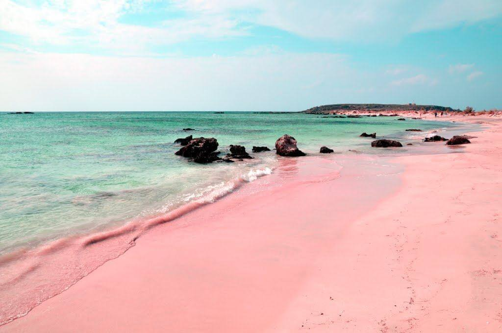 20 Weird Places around the World You Must Visit- Bahamas Pink Sand Beaches