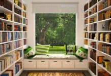 Interior Design Tips to Create the Perfect Reading Nook- Add a Bookshelf