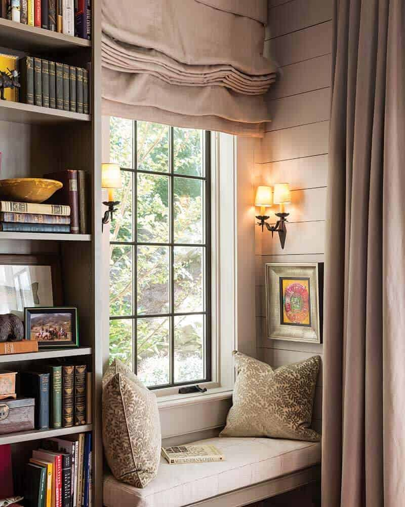 Interior Design Tips to Create the Perfect Reading Nook- Hang Curtains