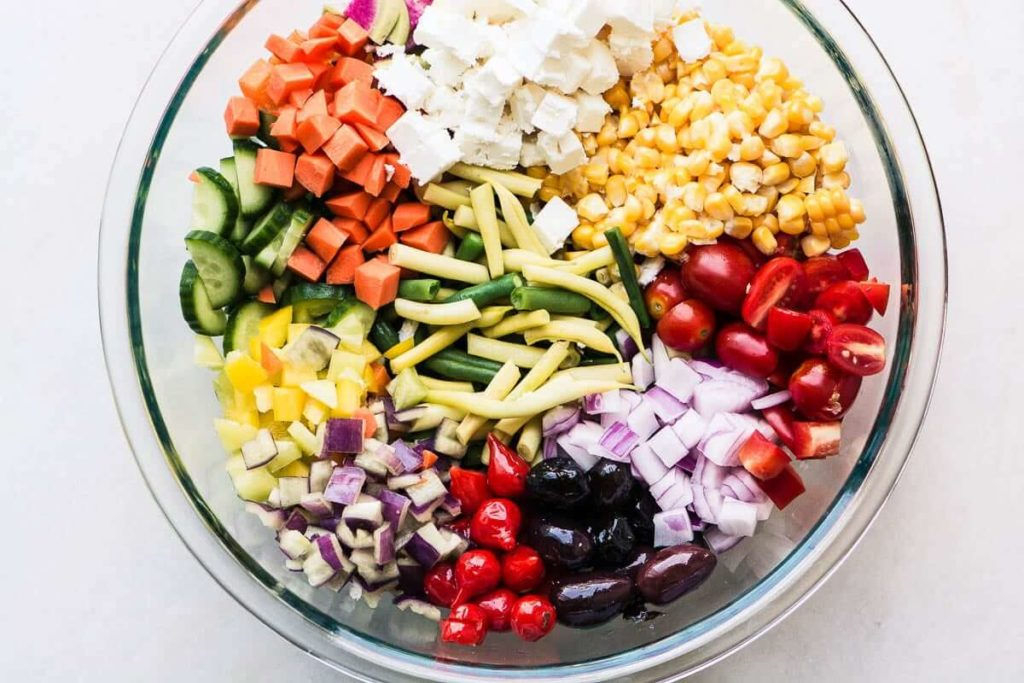 Healthy Diet Ideas to Help You Lose Weight Like a Model-Vegetable Salad