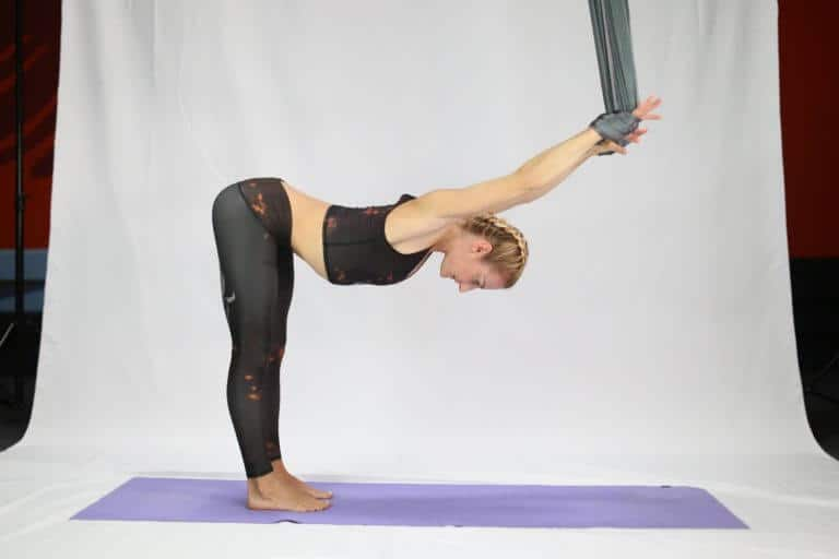 Aerial Yoga Guides for Beginners – What to Know and How to Do - Shoulder Stretches in the Wrist Wrap