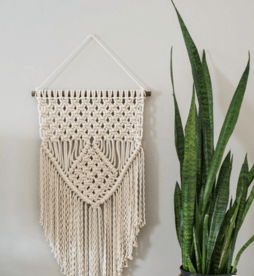 10 Wall Décor Ideas to Upgrade Your Room- Knitted Hanging Decor