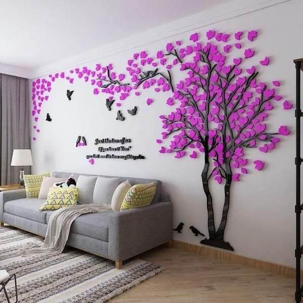 10 Wall Décor Ideas to Upgrade Your Room- Sticker Tree