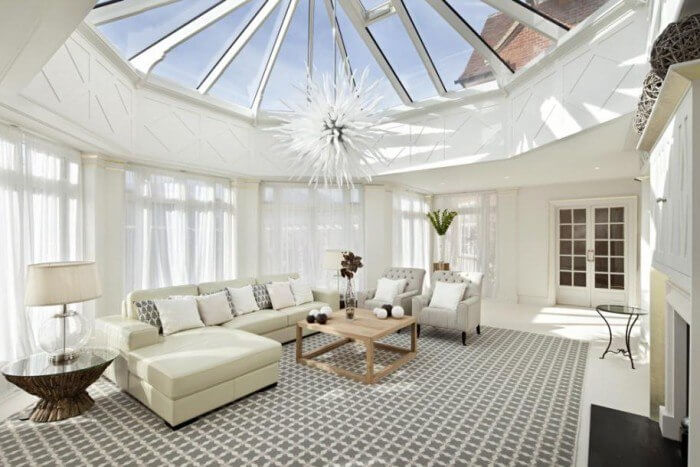The Best Luxury Interior Design Tips to Improve Your Home- Soaked Glass Ceilings
