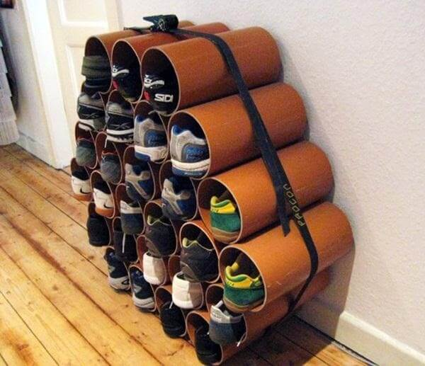 10 Organizing Tips for Your Accessories- PVC Pipe Shoe Organizer