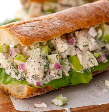 Easy Dinner Ideas for A Family- Chicken Salad Sandwich